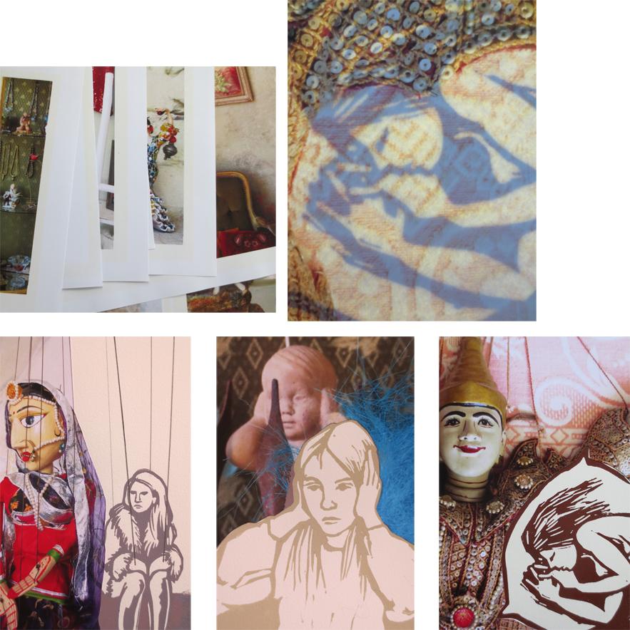 linoleum og collage