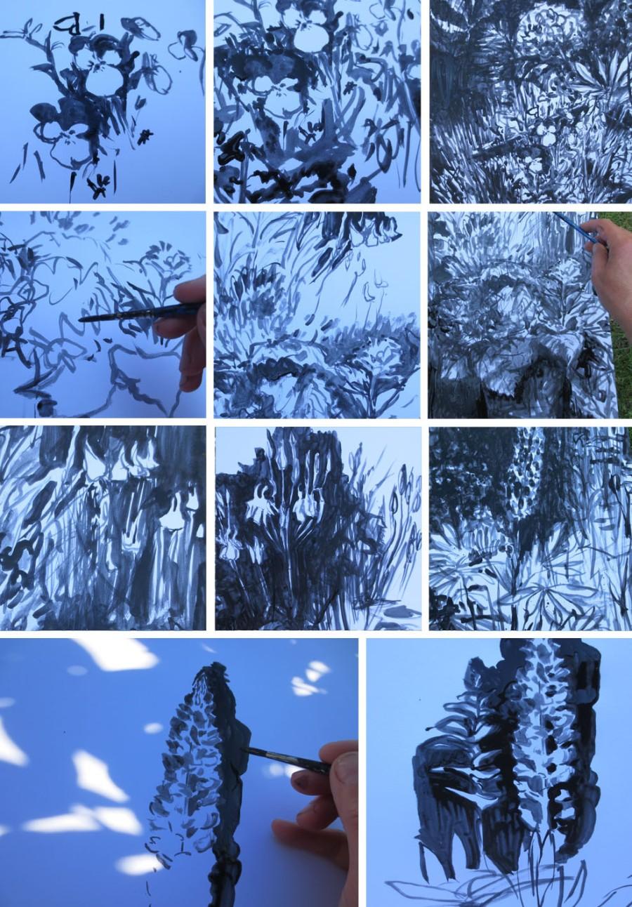 tegner i haven tynd akryl